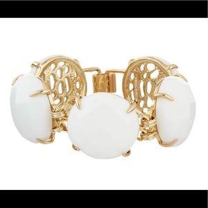Cassie Bracelet in White/Gold